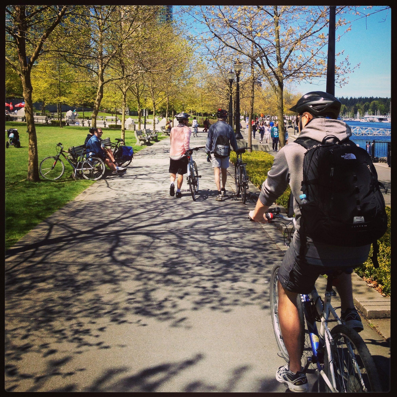 biking Stanley Park, Vancouver
