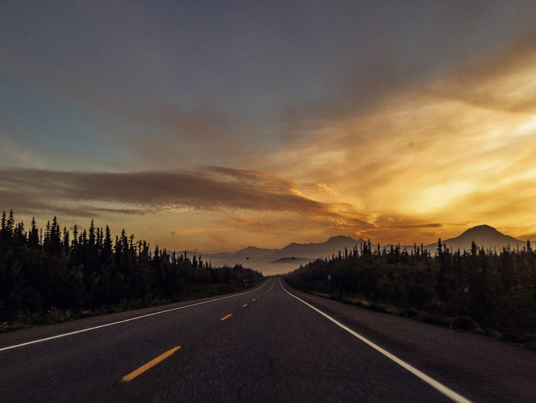 Sunrise over Denali National Park